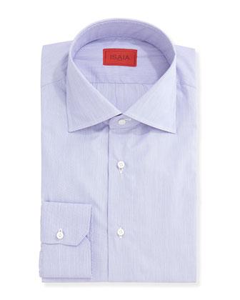 Micro-Stripe Solid Dress Shirt, Purple
