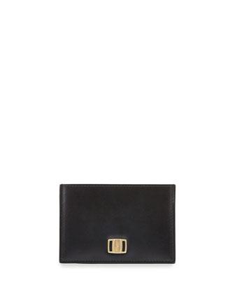 Vara Leather Card Case, Black