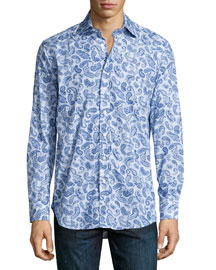 Striped/Paisley Sport Shirt