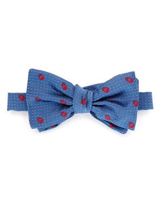Skull & Polka Dot-Print Bow Tie