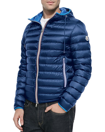Athenes Hooded Puffer Jacket, Blue