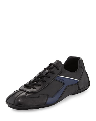 Monte Carlo Leather Sneaker, Black/Navy