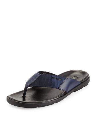 Men's Nylon Flip Flop, Blue