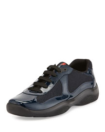 Punta Ala Patent Sneaker, Blue