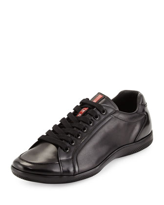 Offshore Leather Sneaker, Black