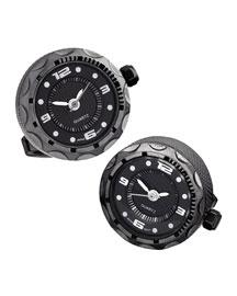 Gunmetal Watch Cuff Links
