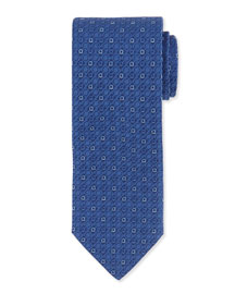 Gancini Jacquard Tie, Blue