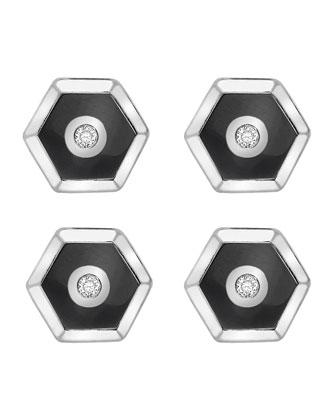 Hexagonal Cuff Links