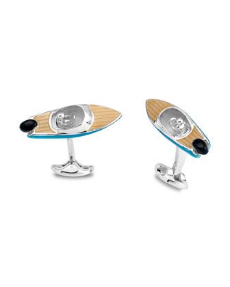 Speedboat Sterling Silver Cuff Links