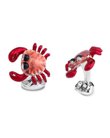 Enamel Crab Cuff Links