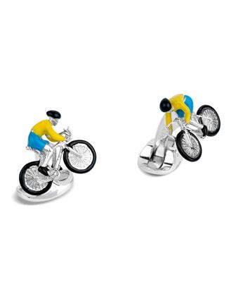 Cyclist Cuff Links