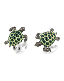 Turtle Sterling Silver Cuff Links