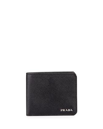 American Leather Billfold Wallet, Black
