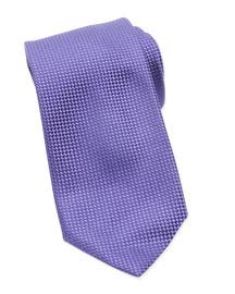 Micro-Check Check Tie, Purple