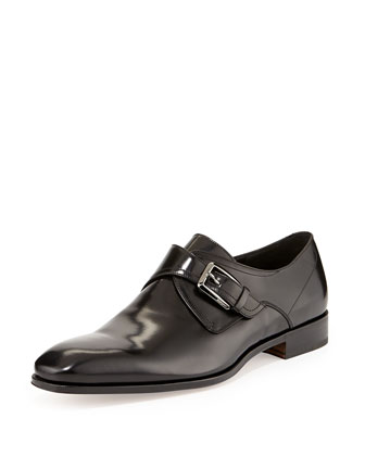 Cipro Monk-Strap Loafer, Black