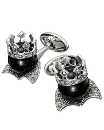The King Onyx Cuff Links