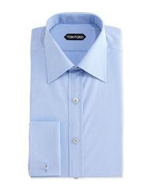 Classic French-Cuff Dress Shirt, Blue