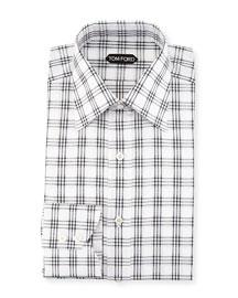 Checkered Dress Shirt, Black/White