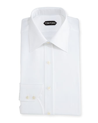Pique Dress Shirt, White