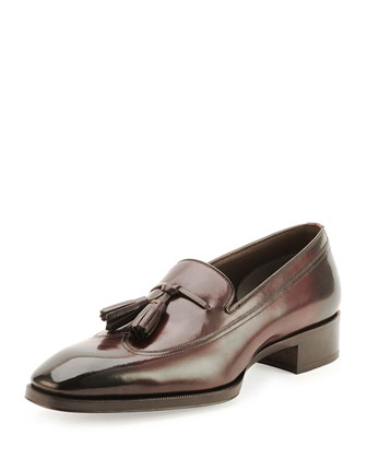 Gianni Tassel-Front Loafer, Cherry