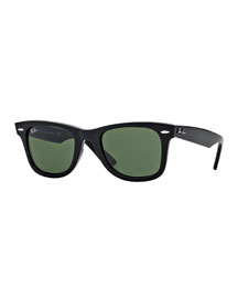 Classic Wayfarer Sunglasses, Black