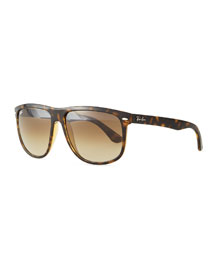 Flat-Top Gradient Sunglasses, Tortoise