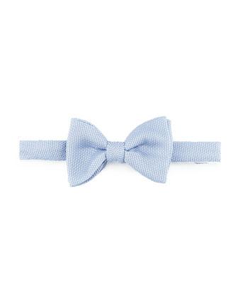 Classic Grenadine Bow Tie, Light Blue