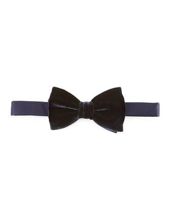 Classic Velvet Bow Tie, Navy