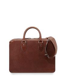 Leather Portfolio Bag, Copper
