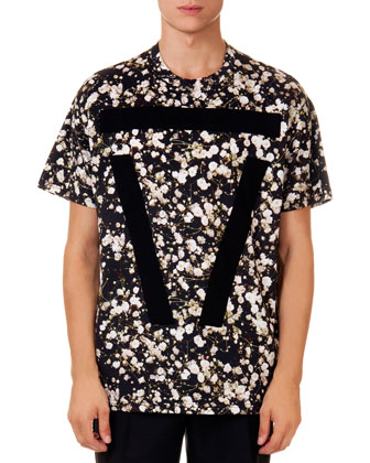 Allover Baby's Breath-Print Tee