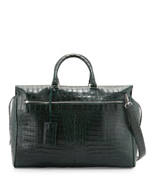 Crocodile Duffel Bag, Green