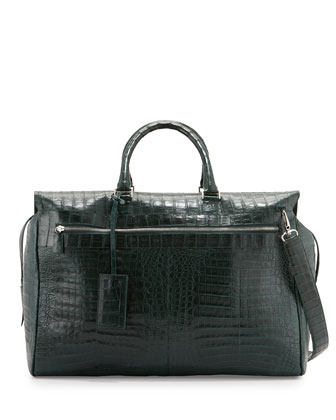 Crocodile Duffle Bag, Green