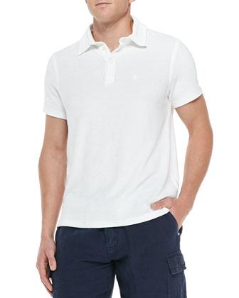 Terry Polo Shirt, White