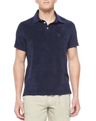 Terry Polo Shirt, Navy