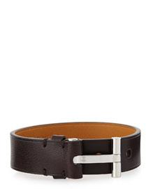 Leather Nashville Bracelet, Brown