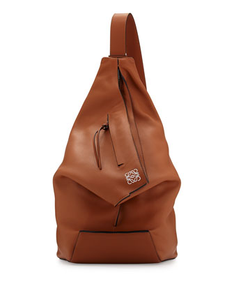 Anton One Shoulder Backpack, Tan