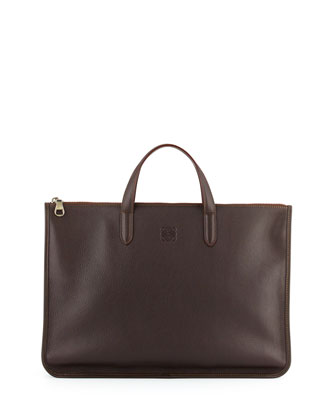 Toledo Leather Briefcase, Brown