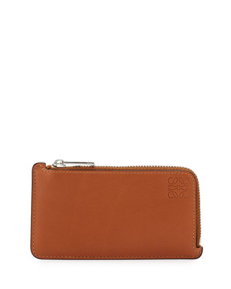 Leather Coin and Card Holder, Tan