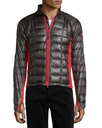 Hybridge Lite Puffer Jacket, Graphite/Red