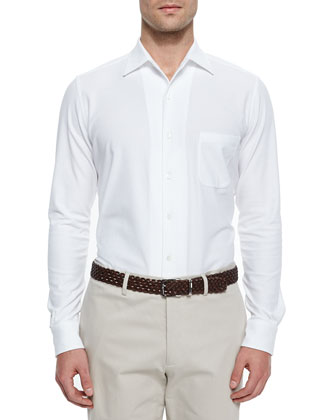 Andre Button-Down Shirt, White