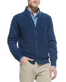 Reversible Shawl-Collar Cardigan