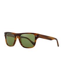 Strathmore VFX+ Polarized Square Sunglasses, Coco Brown