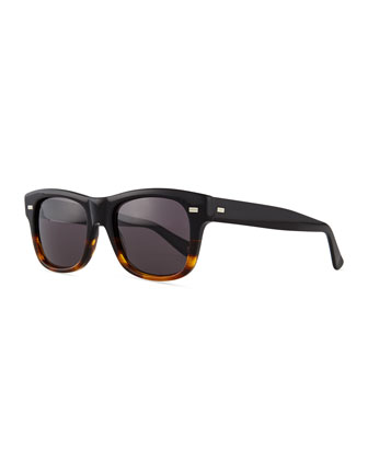 Plastic Frame Sport Sunglasses, Havana/Black