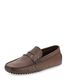 Leather Penny Driver Slip-On Shoe, Brown