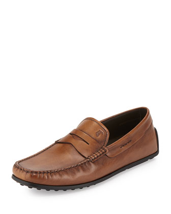 Leather Penny Driver Slip-On, Brown