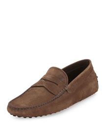 Suede Penny Driver, Brown