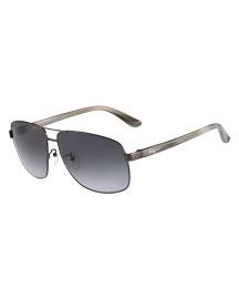 Navigator Metal Sunglasses, Shiny Gunmetal