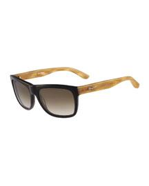 Colorblock Plastic Sunglasses