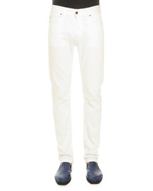 White Five-Pocket Jeans