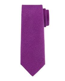 Solid Silk-Blend Tie, Purple